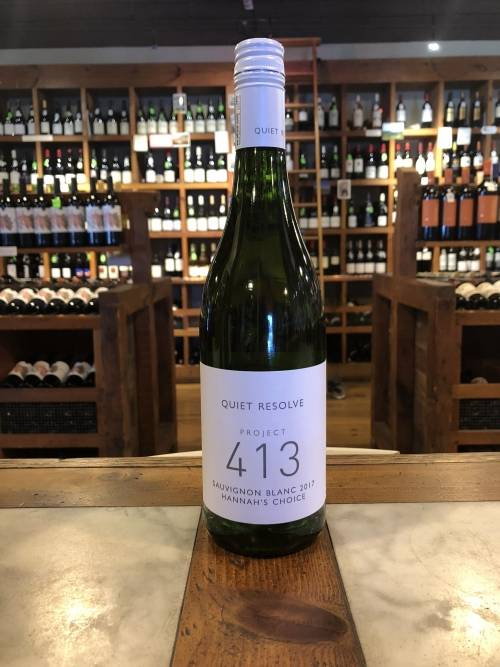 Quiet Resolve Project 413 Hannah's Choice Sauvignon Blanc 2017